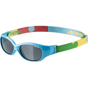 Alpina Sports Flexxy Glasses Kinder cyan-puzzle